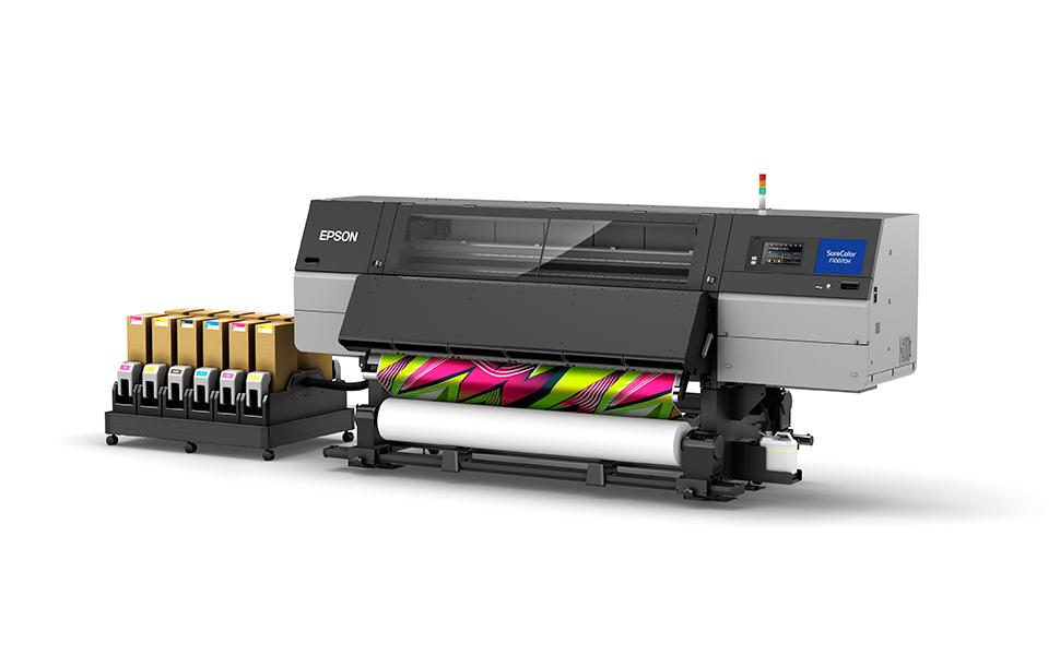 Impressora industrial de sublimação com tinta fluorescente da Epson apoia a produção têxtil personalizada