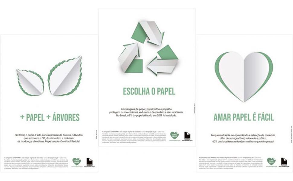 Love Paper é nova campanha da Two Sides no Brasil