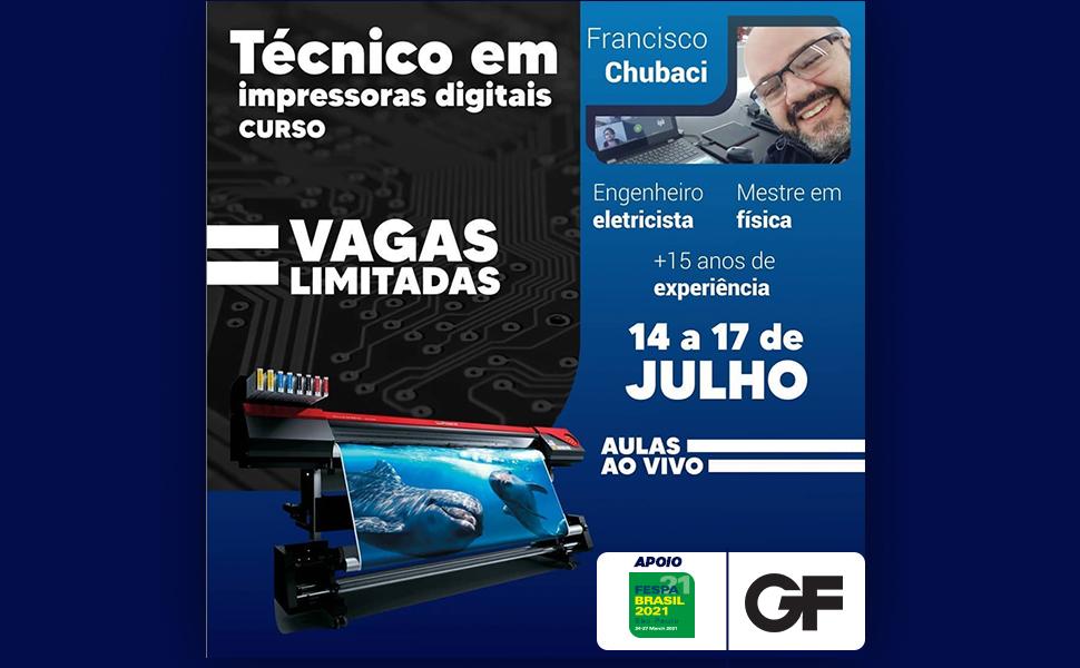 Grandes Formatos anuncia curso online de técnico em impressoras digitais