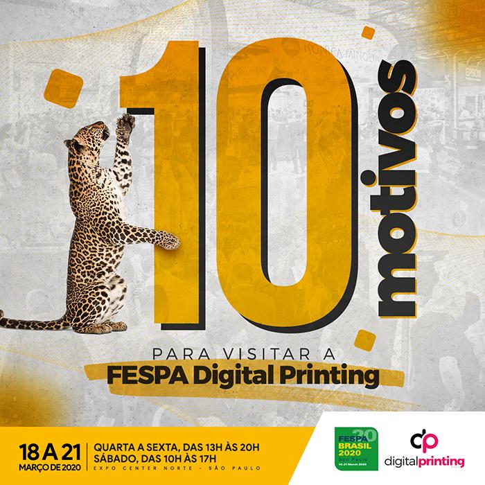 FESPA Digital Printing 2020: muitos motivos para visitar a grande feira do setor!