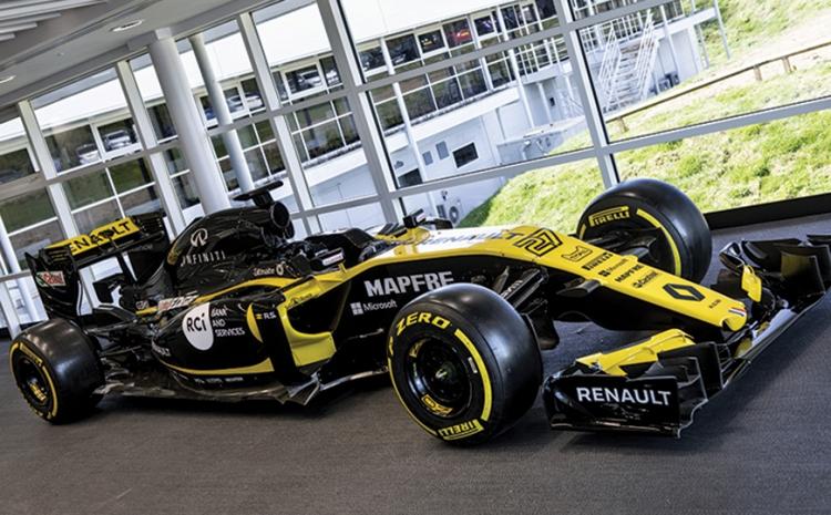 Equipe Renault da Fórmula 1 utiliza Roland Truevis VG2