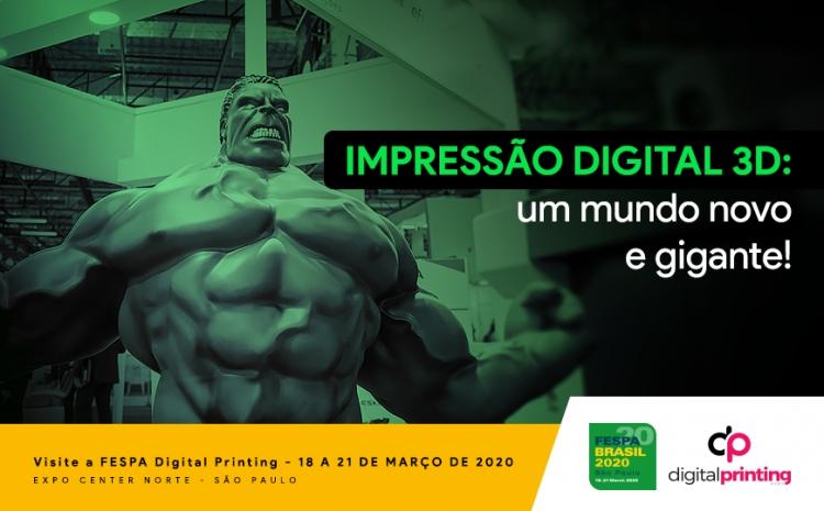 Impressão digital 3D em grandes formatos: um gigante novo mundo!