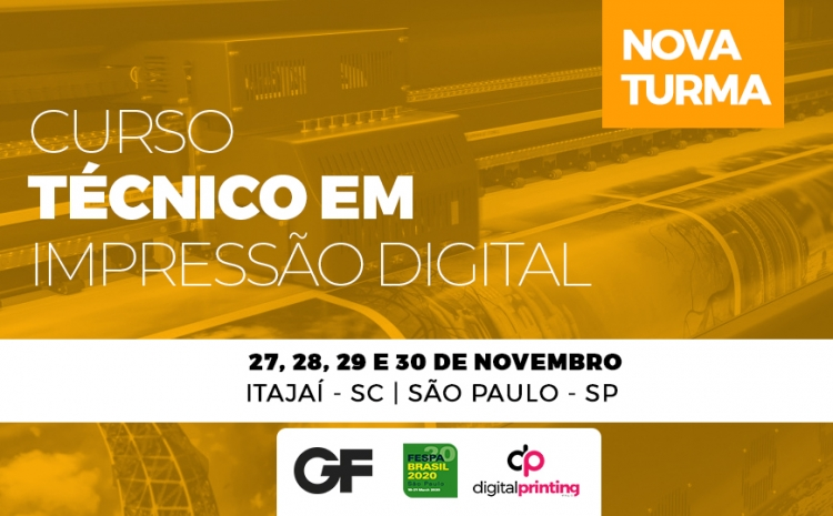 Curso técnico da GF sobre impressão digital acontece em novembro