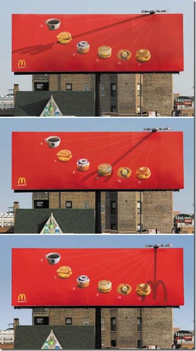 McDonalds: Um outdoor com recursos multimídia natural