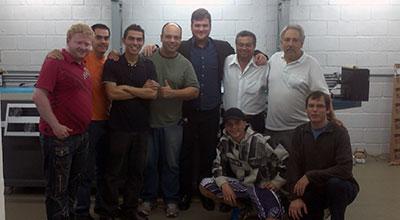 Adriano Medeiros com a equipe A2, de Atibaia